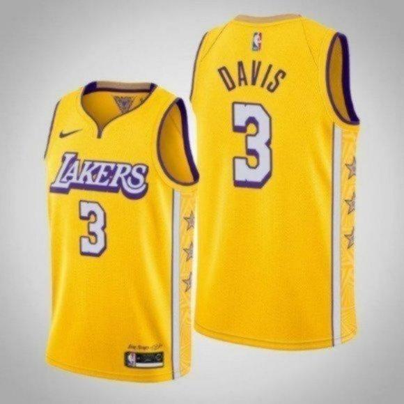 Shirts | Los Angeles Lakers Anthony Davis City Jersey 3 | Poshmark
